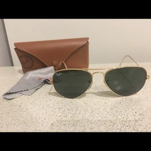 Ray-ban aviator classic rb3025 size small 55 15